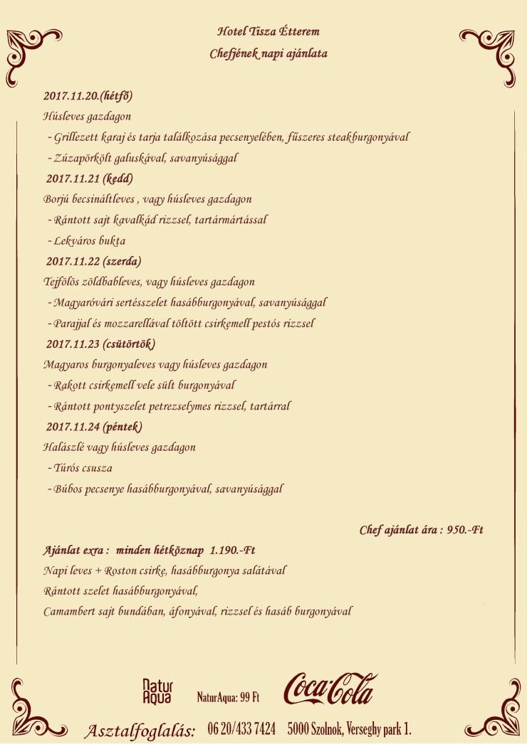 Napiajánlata (11.20.)