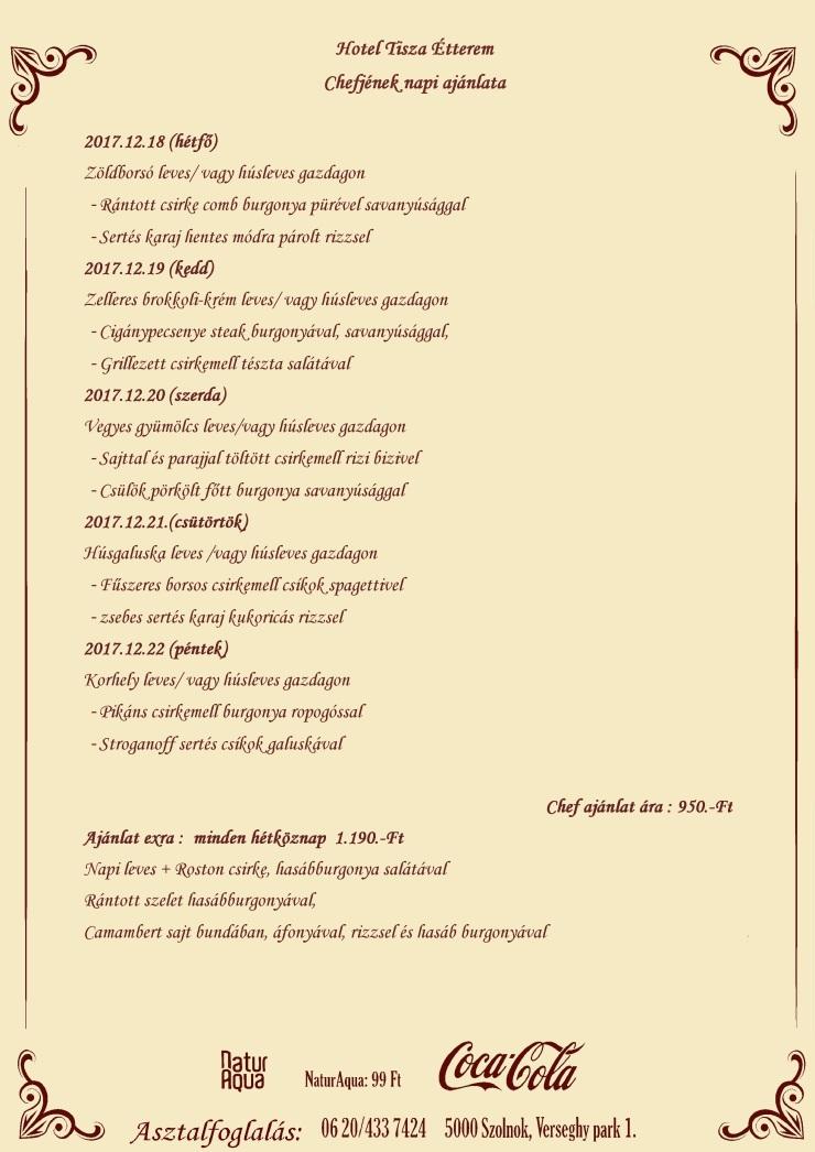 Napiajánlata (12.18.)