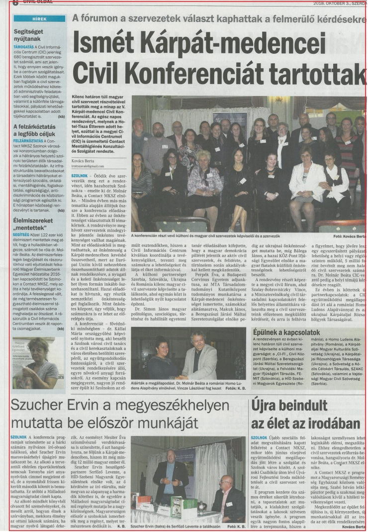 2018.10.03. Új Néplap civil oldal