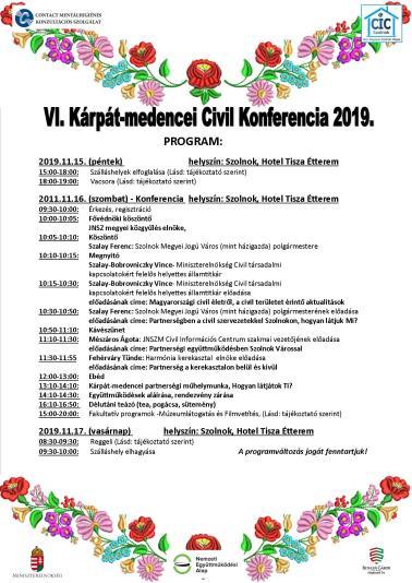 002- A Konferencia programja