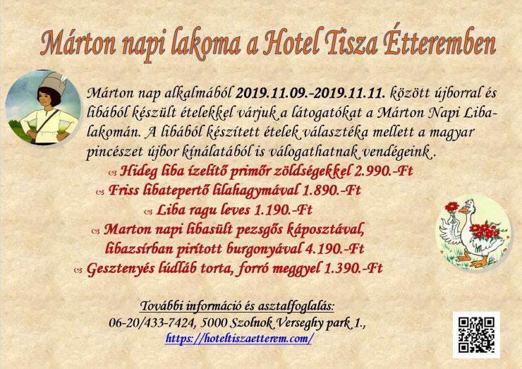Márton napi lakoma 2019